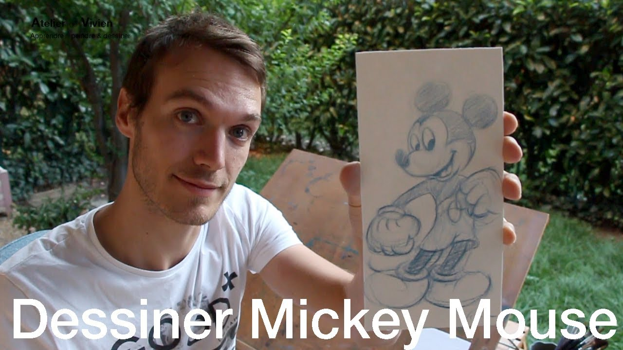 Comment dessiner mickey mouse atelier de vivien blog dessin - Dessiner mickey ...