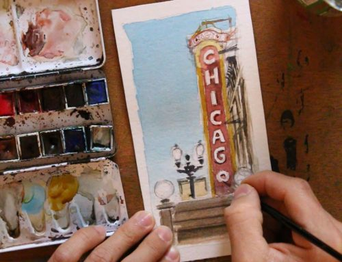 "Comment dessiner ""Chicago theatre"""